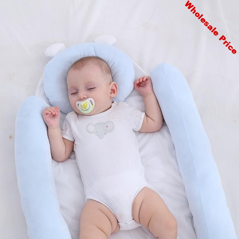 Soft Baby Sleep Nest Bassinet For Bed Portable Baby Lounger For Newborn Crib Breathable And Sleep Nest