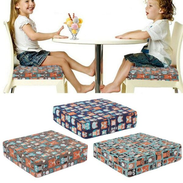 Baby Increased Chair Pad Baby Booster Seat Children Dining Cushion Adjustable Foldable Removable Chair Booster Seats