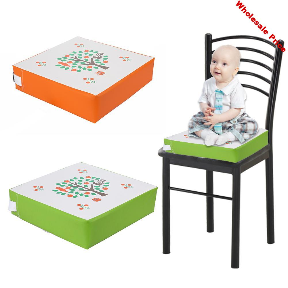 Adjustable Baby Increased Chair Pad Soft Children Dining Cushion Removable Foam Inside Chair Booster Cushion Pram Chair Pad