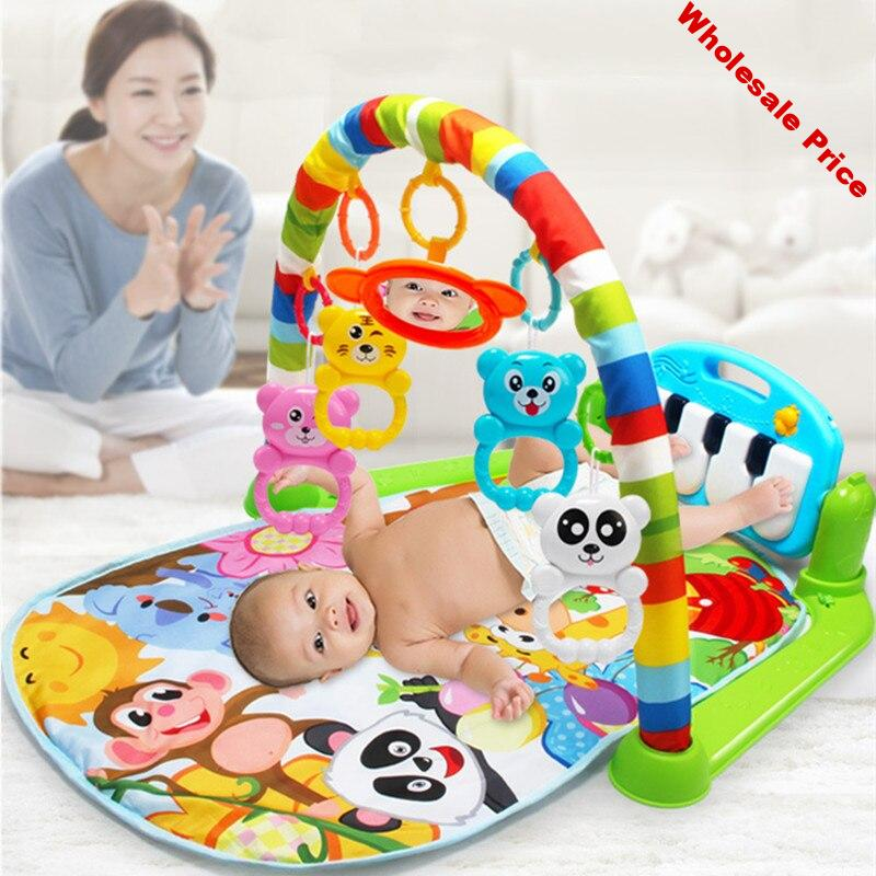 Infant 0-18 months baby music fitness rack newborn music pedal piano children educational toys