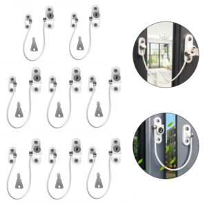 4/8Pcs/Set Window Locks Children Protection Lock Stainless Steel Window Limiter Baby Safety Infant Security Child Window Lock