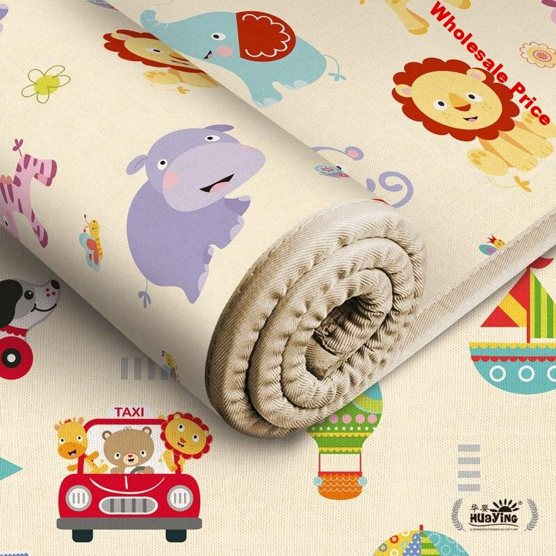 Infant Shining Kids Play Mat Folding Puzzle Playmat Game Pad for Infants 180*150*0.5CM Foam Crawling Mat Pack and Play Mattress