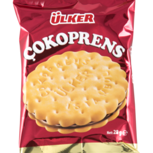 24 PIECES Ulker Cokoprens Biscuit Filled Cocoa and Hazelnut Cream 30 GR x 24 Pieces SNACK Turkish Gift