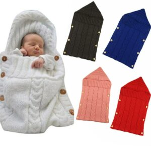 Baby Sleeping Bag with Button Envelope to Extract The Winter Newborns Baby Swaddle Newborn Cocoon Stroller Blanket Sleepsack