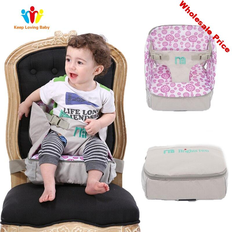 Baby Dining Chair Bag Child Portable Seat WaterProof Fabric Infant Travel Foldable Mummy bag Baby Safety Belt Feeding High Chair