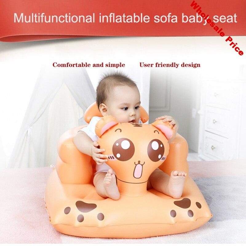 Children Baby Inflatable Sofa Chair Seat Dining Bathroom Learn Sitting Portable Seat YH-17