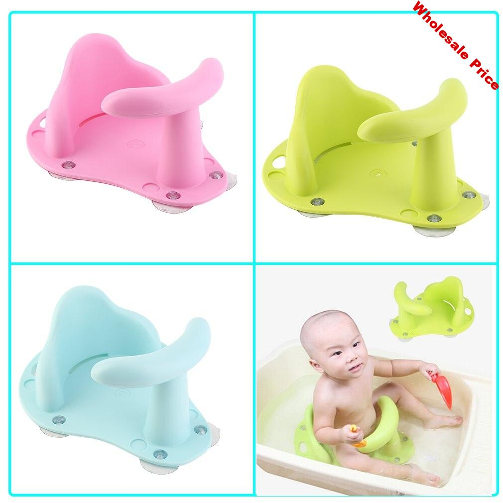Baby Bathing Chair Tub Ring Seat Baby Anti Slip Safety Chair Kids Bathtub Mat Non-slip Pad Baby Care Support Infant Shower Chair