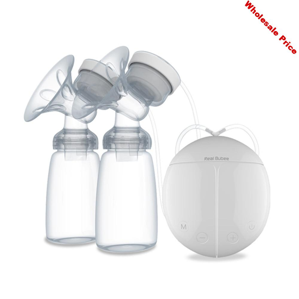 Hot Electric Double Breast Pump Infant USB Powerful Pumps with Milk Bottle Feeding Bottles nipple Breasts Pump Bottle Sucking
