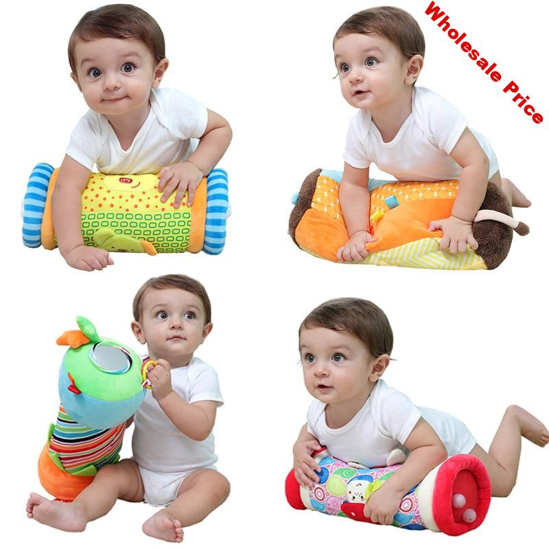Column Baby Pillow Toys Newborn Activity Crawl Toy Cushion Gym Support Sensory Develop Early Educational Material Baby Rattles