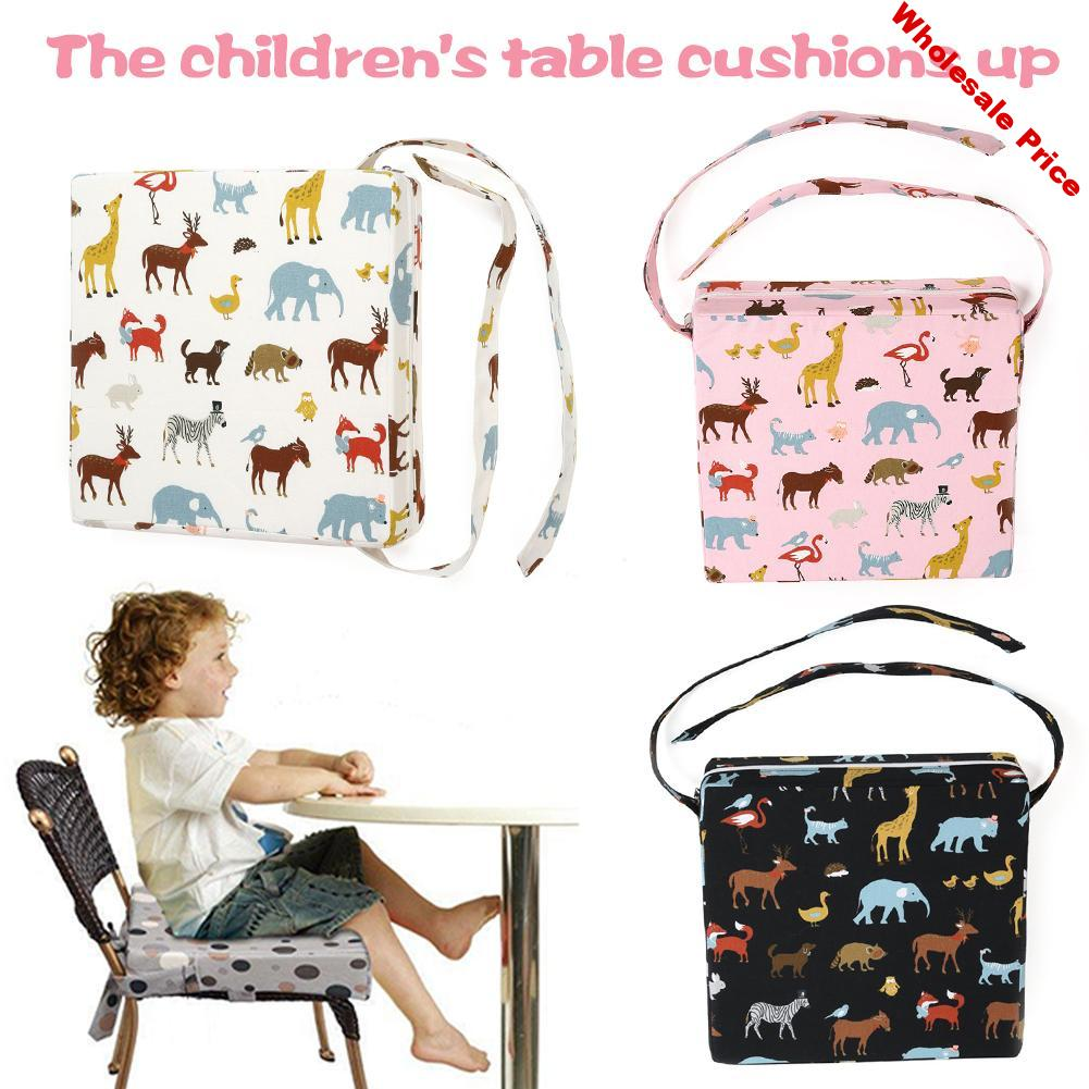 Baby Increased Chair Pad Soft Baby Child Dining Cushion Adjustable Removable Chair Booster Cushion Pram Chair Pad Booster Seat