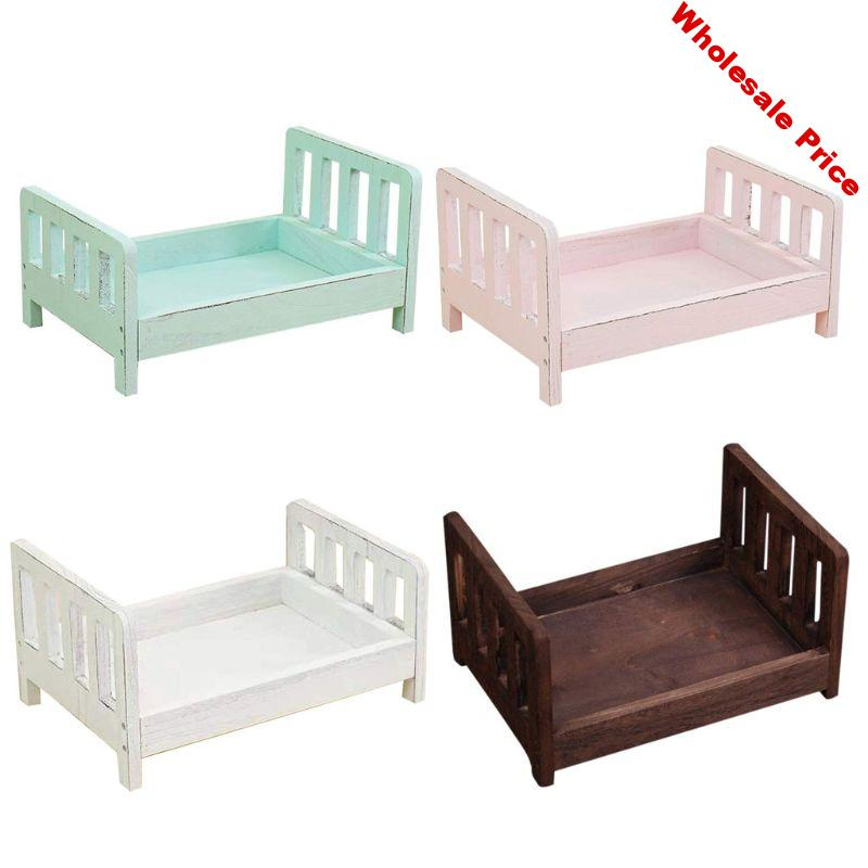Newborn Photography Props Wood Bed Infant Poses Detachable Background Props home decoration rack