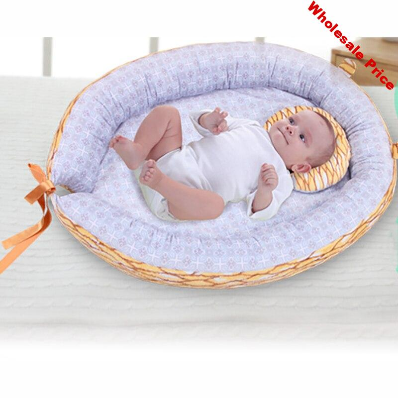 Baby Crib Stereotypes Anti-rollover Mattress Pillow For 0-12 Months Soft portable Cotton Baby Sleeping Positioning Pad Pillow