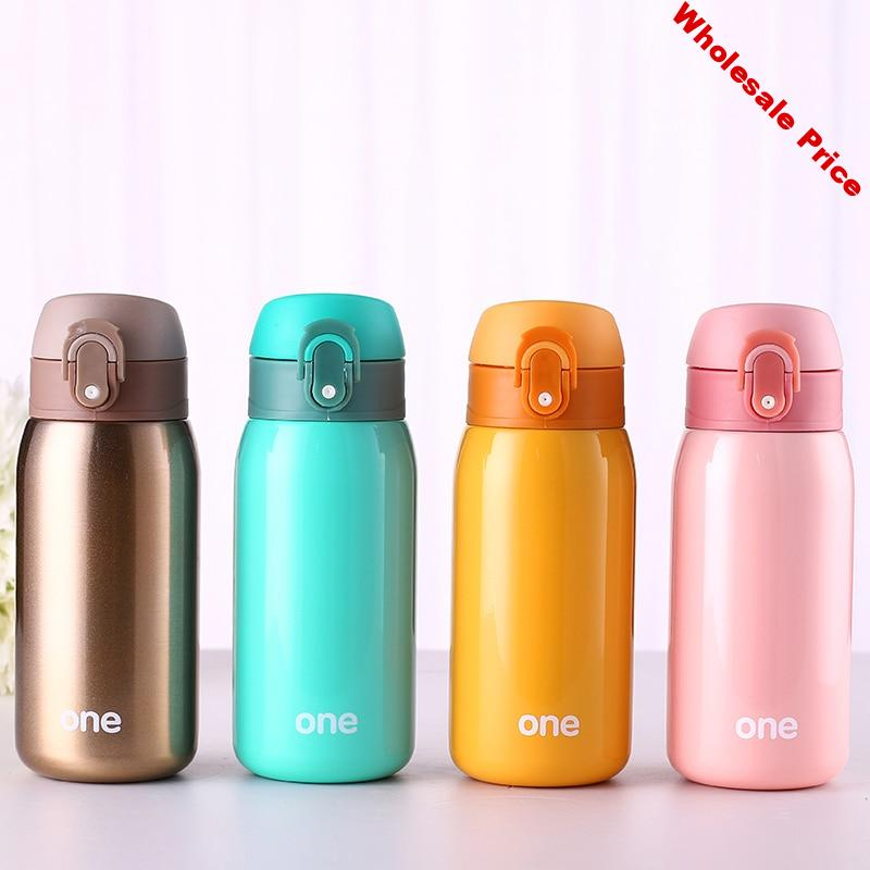 320ML Baby thermos Bottle Feeding cup for baby drinking water Stainless steel Vacuum Flask small cute pot Lover Gift for kids