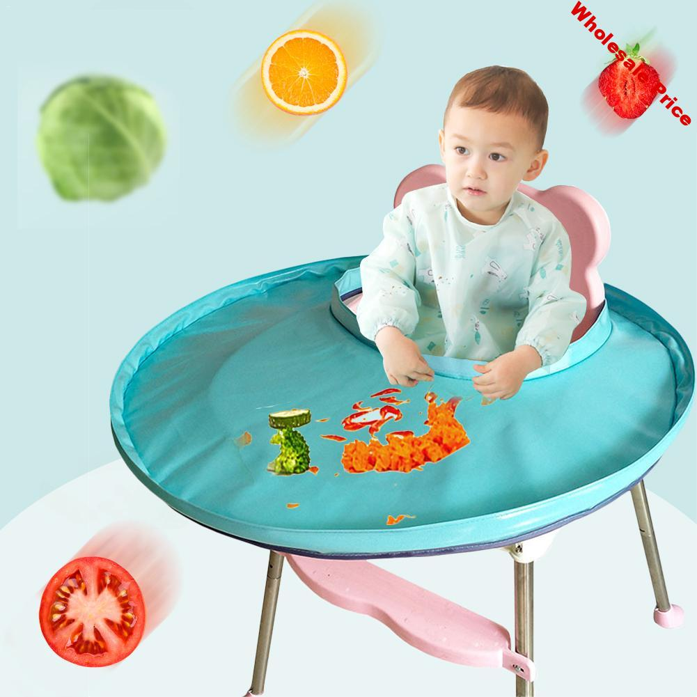 Solid Color Foldable Kids Dining Chair Cover Portable Eating Mats Dining Chair Tray Anti-food Drop Folding Baby Dining Tray