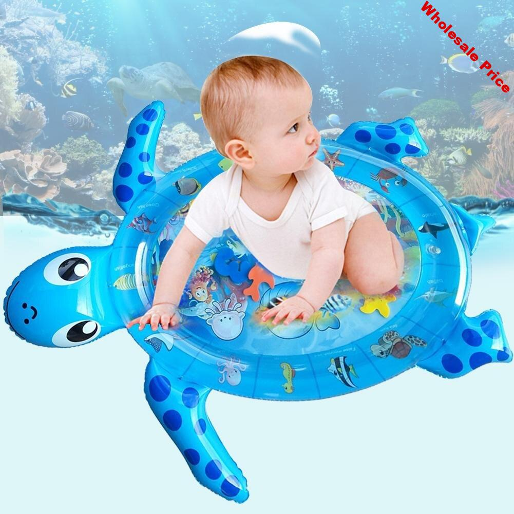 Early Development Patted Pad PVC Unisex Activity Center Sensory Support Leakproof Inflatable Baby Water Mat Playmat Toys Funny