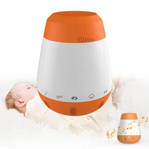 Voice Sensor Rechargeable White Noise Music Therapy Sound Machine Baby Portable Sleep Soother Infants