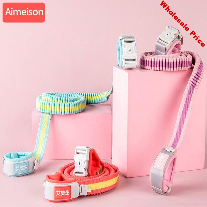 Aimeison Baby Rope Traction Rope Seat Belt Anti-lost Wrist Strap Baby Strap Rope Children Walking Hand Strap New Upgrade