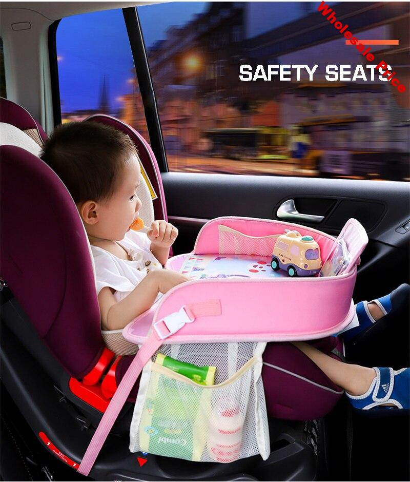 Dropshipping Baby Car Seat Tray Stroller Kids Toy Food Water Holder Desk Children Portable Table For Car Waterproof Child Table