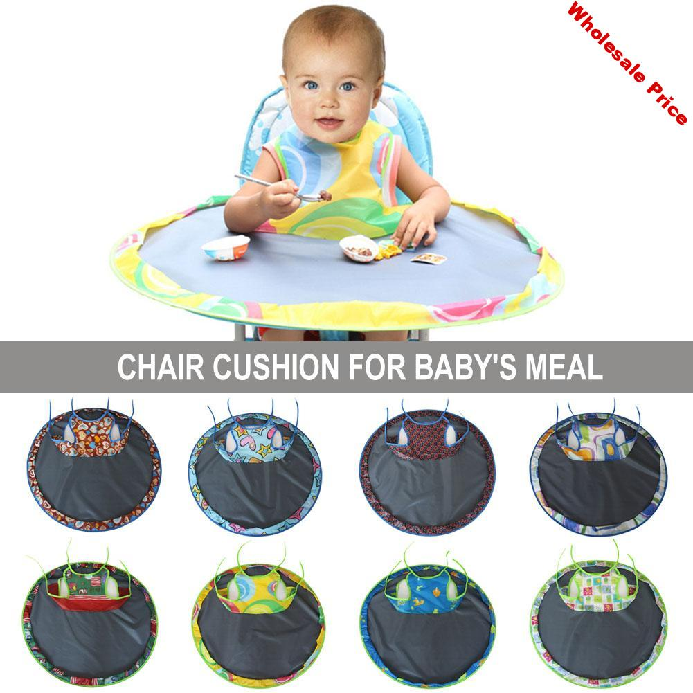 Baby Eating Table Mat Feeding Chair Cushion Waterproof Round Folding Infants Pad Anti-dirty Table Pad