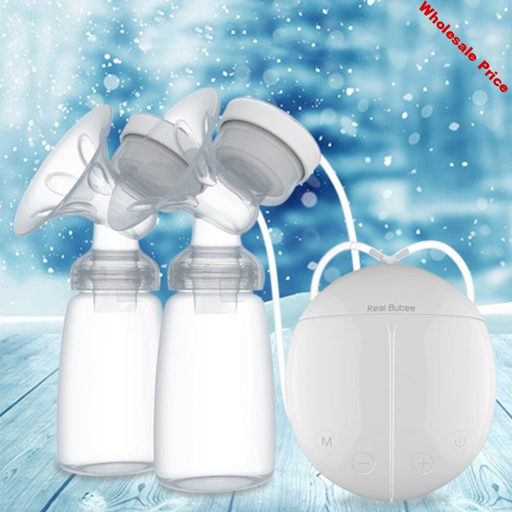 Baby Electric Double Breast Pump Infant USB Powerful Pumps with Milk Bottle Feeding Bottles nipple Breasts Pump Bottle Sucking