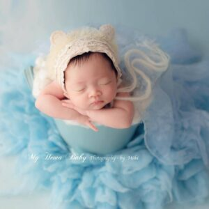 Newborn photography props hat euro-american lace bear knitted hat baby hat princess party studio photography