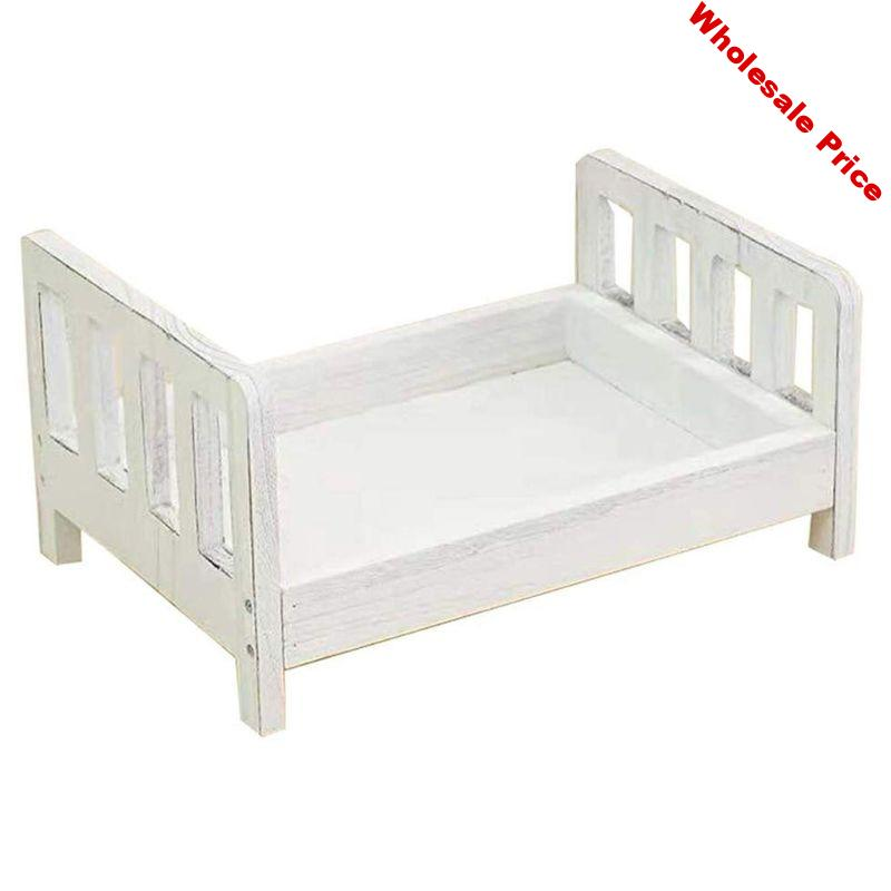 Newborn Photography Props Wood Bed Infant Poses Detachable Background Props U50F