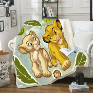 Cute Simba Lion King Friends Plush Blanket Baby Children Boys Kids Gift Throw 150x200cm Sofa Bed Cover Bedding