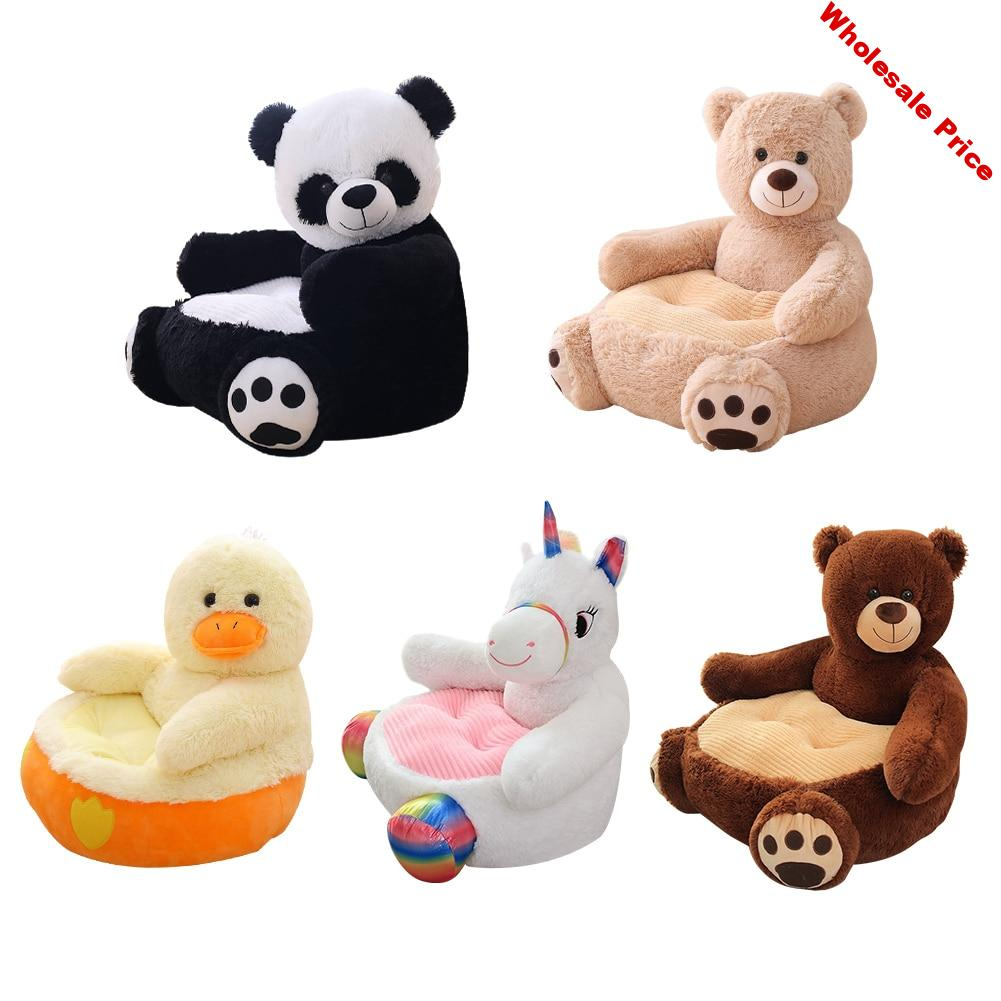 Baby Sofa Support Seat Cover Washable Plush Chair Learning To Sit Comfortable Toddler Nest Puff without Filler Cradle Sofa Chair