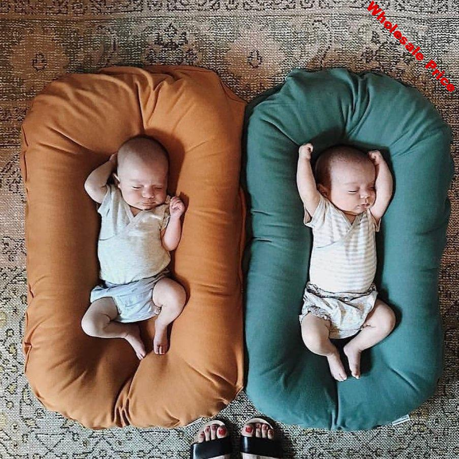Infant Newborn Baby Lounger Portable Baby Nest Bed for Girls Boys Cotton Crib Toddler Bed Baby Nursery Carrycot Co Sleeper Bed