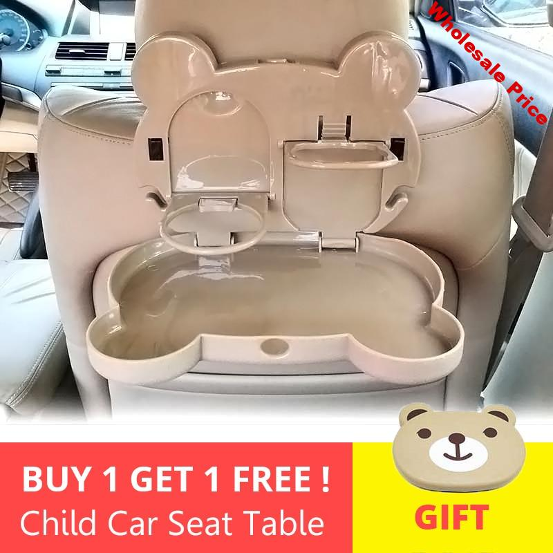 2pcs/Lot Child Car Seat Table Seat Tray Storage Kids Toy Food Water Holder Children Portable Table For Car Baby Food Desk ABS