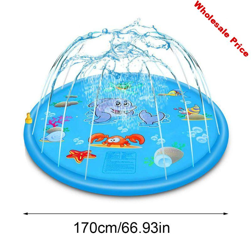 PVC Inflatable Cushion Baby Kids Spray Water Game Pad Outdoor Lawn Children Play Water Mat Boys Girls Summer Gifts K1KC