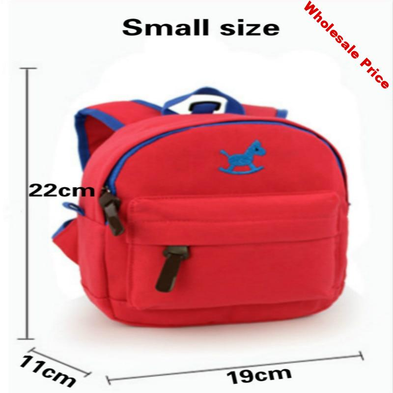 5 color options for new cotton children's backpacks with 3d cartoon cute embroidery design preventing baby bags Red Yellow