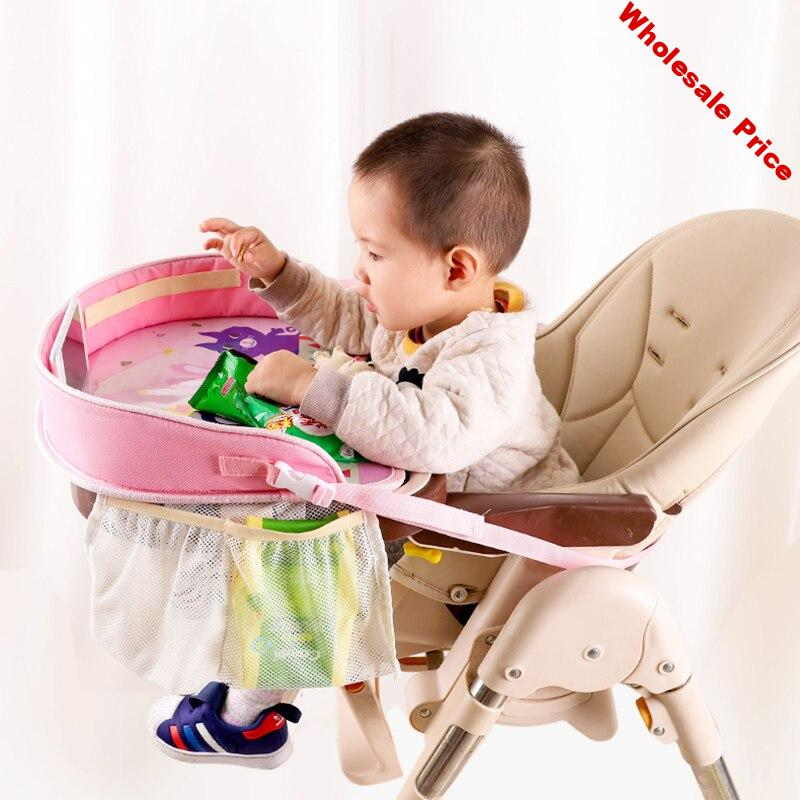 Kids Multi-function Car Safety Seat Painting Table Baby Eating Table For Children Stroller Car Chair Stroller Accessories