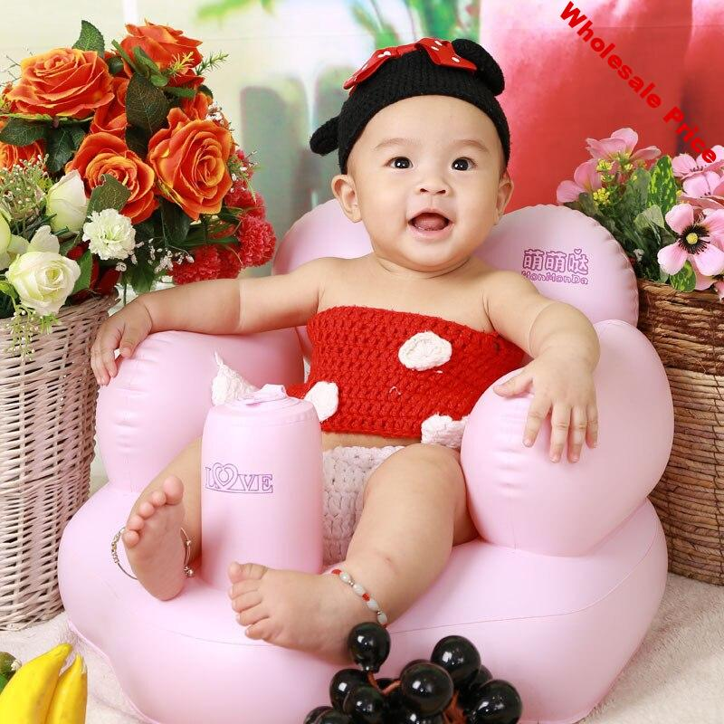 Baby Inflatable Chair Baby Inflatable Bath Stool Baby Learning Chair Stool Children Small Sofa Inflatable Sofa