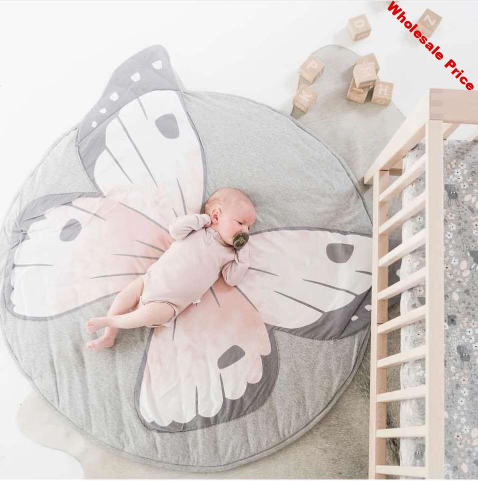 Christmas Ins Lion Butterfly Blanket animal printing crawling Floor mat game carpet children's room decoration Gift