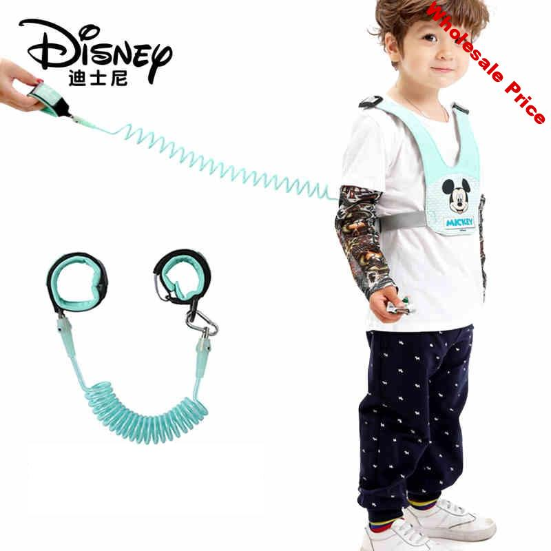 Disney 2 In 1 Anti Lost Wrist Link Toddler Leash Safety Harness Breathable Baby Strap Rope Outdoor Walking Hand Wristband Kids