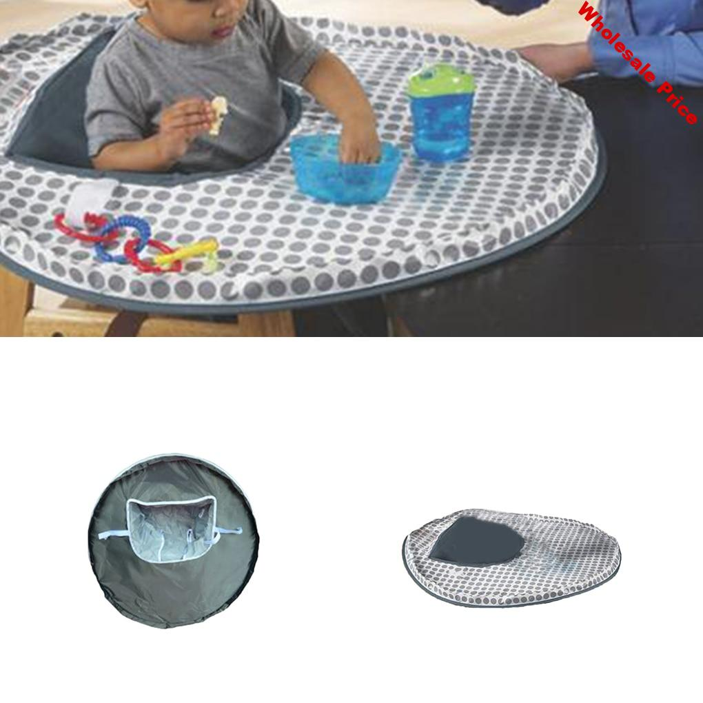 Baby Eating Table Mat Infant Feeding Saucer High Chair Cover Kids Highchair Cover Food Toys Falling Prevent