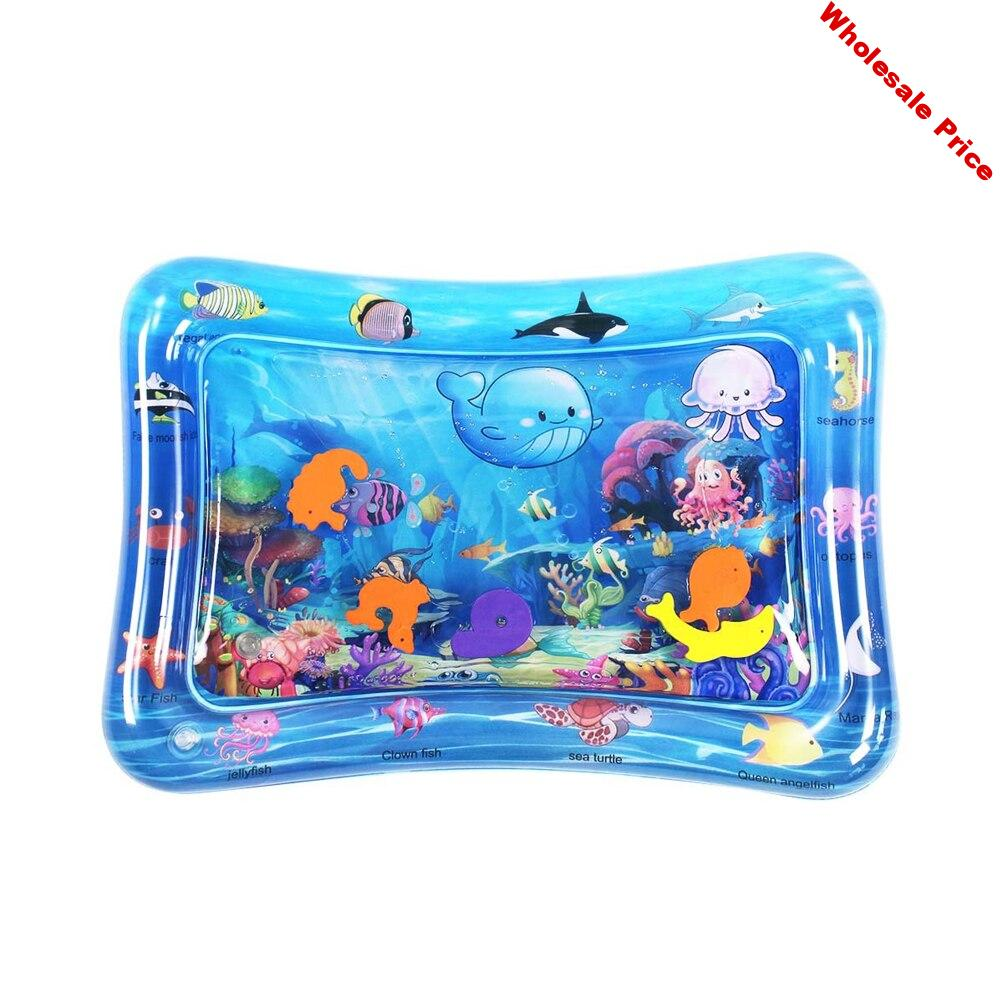 Playmat Toys Early Development Sensory Inflatable Baby Water Mat Patted Pad Activity Center Funny Home Support PVC Foldable