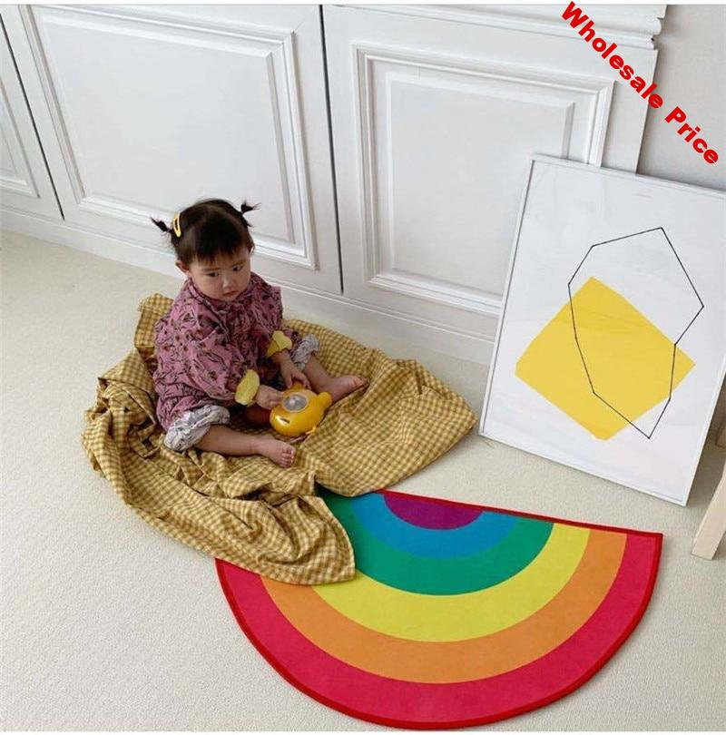 Foldable Baby Play Mat Educational Children's Carpet in the Nursery Climbing Rainbow Pad Toys Kids Rug Activitys Games Baby Gym
