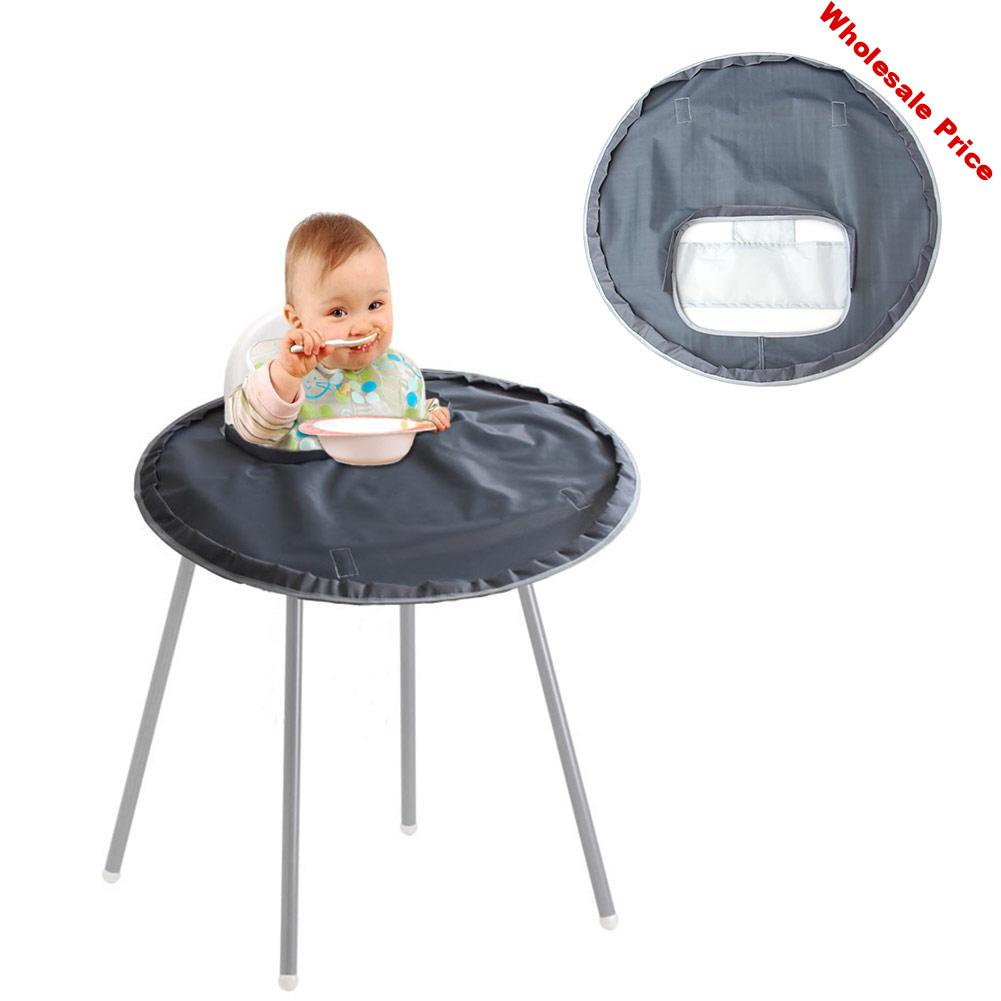 Baby Eating Table Mat Baby Feeding Saucer High Chair Cover For Kids Highchair Cover Germ Prevents Food Toys Falling To Floor