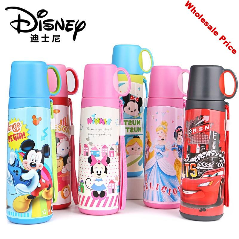 520ml Disney Kids Thermos Bottle Insulation Feeding Cup Warhead Student Cup Children's Mug Baby Cup 304 Stainless Steel Cup