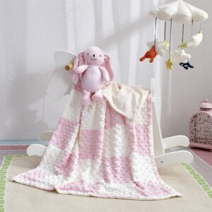 2pcs/set Baby stuffed animal toy soothe blanket minky dot Bunny Security Blanket pacify towel newborn teether appease blanket