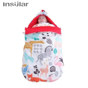 New baby swaddle wrap Baby cotton anti-shock autumn and winter thickening dual-use newborn baby quilt baby blanket sleeping bag