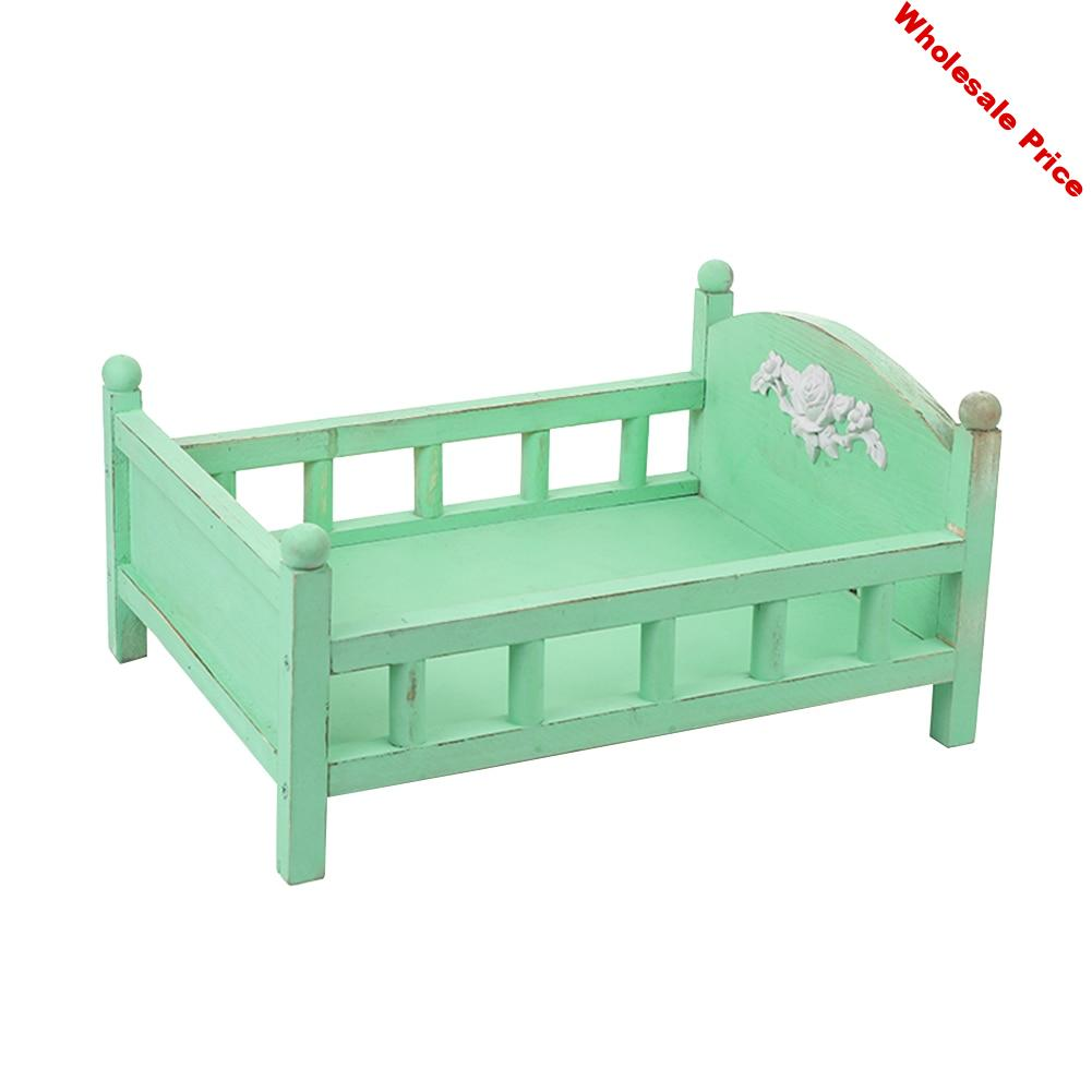Studio Background Gift Wood Bed Baby Photography Childhood Crib Durable Lovely Cute Detachable Newborn Photo Props Posing
