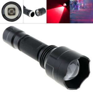 Waterproof Rotary Focusing C8 850nm IR 38mm Lens Light Night Vision Flashlight Torch for Camera Supplementary Intensifier