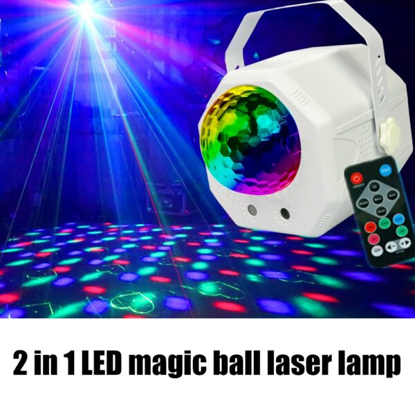 5V LED Disco Ball Light Lamp Remote Control Stage Effect Party Decor Spotlight Uplights Stage Lighting Effect Light