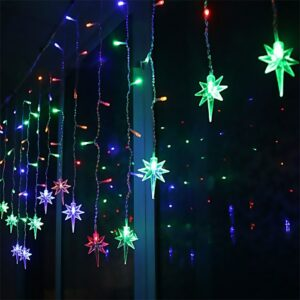 3.5M Christmas LED Pendant Strip Light Droop 0.3-0.6m Curtain Icicle String LED Lamp Party Garden Stage Outdoor Waterproof Decor