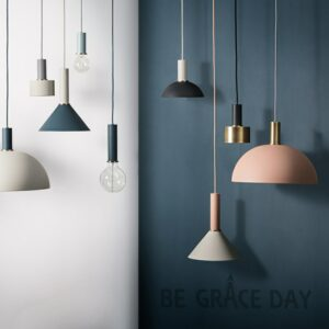 Nordic simple bar hanging lamp colored Pendant Light restaurant