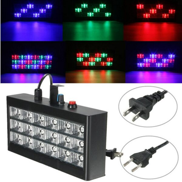 18W RGB Voice Automatic Control LED Stage Strobe Light Projector for Club Disco KTV