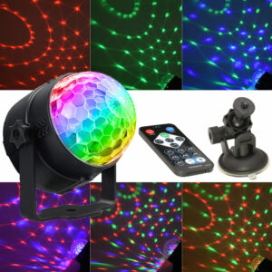 Led Party lights Strobe Dance Light 3w Disco Ball DJ Lights for Parties Sound Activated lamp Karaoke Machine Kids Birthday Gift